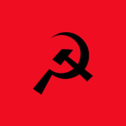 Marxism Framed Prints - Hammer And Sickle Symbol Framed Print by Nathan Griffith/Fuse