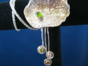 Organic Jewelry - Hammered Dangle Necklace by Deborah Haste