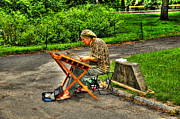 Central Park Photo Originals - Hammered Dulcimer Musician in Central Park by Randy Aveille