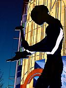 Seattle Digital Art Metal Prints - Hammering Man Metal Print by Tim Allen