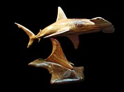 Sharks Sculpture Metal Prints - Hammerquest Metal Print by Kjell Vistnes