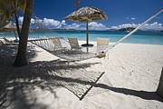 Boats On Water Photo Posters - Hammock on the beach Poster by Hammock on the beach