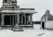 Hampi Stone Structure 2 Print by Shashi Kumar