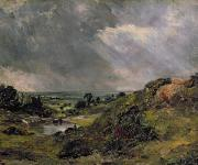 Stormy Sky Framed Prints - Hampstead Heath Framed Print by John Constable