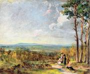 Constable; John (1776-1837) Framed Prints - Hampstead Heath Looking Towards Harrow Framed Print by John Constable