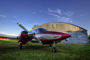 Hangar Framed Prints - Hampton Airfield Framed Print by Eric Gendron