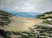 Hamptons Painting Prints - Hampton Beach Print by Joan Elliott