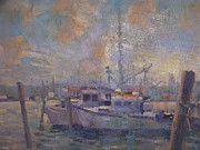 Hamptons Painting Prints - Hampton boats Print by Bart DeCeglie