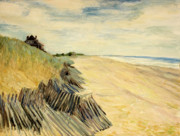 East Hampton Painting Framed Prints - Hampton Dunes Framed Print by Pat White