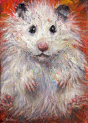 Palette Knife Framed Prints - Hamster Painting  Framed Print by Svetlana Novikova