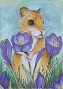 Debrah Nelson - Hamster Picking Purple...