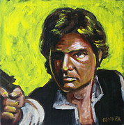 Harrison Painting Originals - Han Solo by Buffalo Bonker