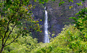 Hanakapiai Posters - Hanakapiai Waterfall Kauai Poster by Kevin Smith