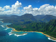 Tropical Prints Prints - Hanalei Bay 2 Print by Ken Smith