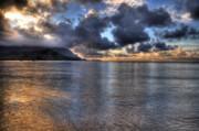 Hawaii Sunset Posters - Hanalei Bay HDR Poster by Kelly Wade
