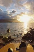 Island Light Photos - Hanalei Bay Sunset by Quincy Dein