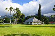 Coconut Palms Prints - Hanalei Mission House Kauai Print by Kevin Smith