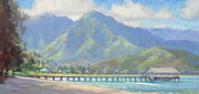 Hanalei Pier Magic Print by Jenifer Prince