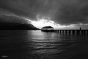 Hanalei Pier Sunset Framed Prints - Hanalei Pier Framed Print by Nick Galante
