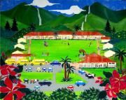North Shore Prints - Hanalei School Print by Jerri Grindle