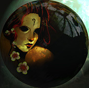 Mermaid Artwork Digital Art - Hanalulu - Orb by Amanda Yauch