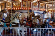 Band Organ Framed Prints - Hand Carved Carousel Framed Print by Kathy Flugrath Hicks