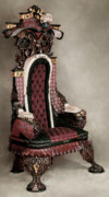 Carved Reliefs Originals - Hand Carved Chair     The Throne by Mark Gallivan