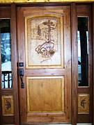 Stacey Mitchell - Hand Carved Entry Door...