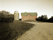 Sepia And Cream Posters - Hand-colored Barn on NN Poster by Jan Faul