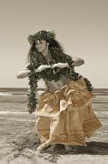 Hand Colored Hula Print by Himani - Printscapes