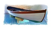 New England Paintings - Hand Crafted Boat Painting by Earl Jackson