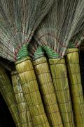 Peoples Republic Of China Photos - Hand Made Brooms For Sale In A Market by David Evans