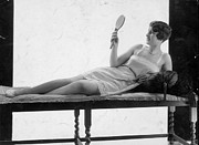 Chaise Photo Prints - Hand Mirror Print by General Photographic Agency