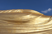 Gild Framed Prints - Hand of a giant reclining Buddha statue Framed Print by Stefano Baldini