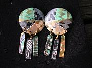 Abstract Jewelry Originals - HAND-PAINTED earrings by Barbara Yalof