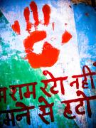 India Metal Prints - Hand Print II Metal Print by Derek Selander