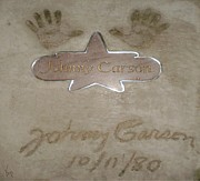 Johnny Carson Art - HAND PRINTS - Johnny Carson by Charlotte EVONNE Comfort