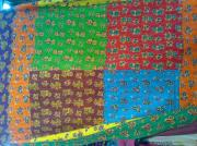 Hand Made Tapestries - Textiles - Hand Quilted Bed Cover by Dinesh Rathi