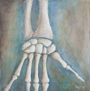 Bones Paintings - Hand by Sara Young