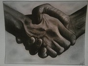 Shake Digital Art - Hand shake  by Edwin Lopez