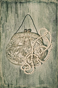 Old Lady Prints - Handbag With Pearls Print by Joana Kruse