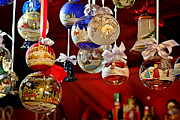 Holiday Metal Prints - Handcrafted Mouth Blown Christmas Glass Balls Metal Print by Christine Till