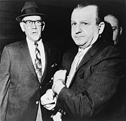 Candid Portraits Prints - Handcuffed Jack Ruby, Killer Of Jfk Print by Everett