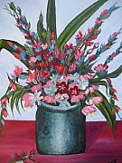 Glads Paintings - Handful of Flowers by Elizabeth AAThompson