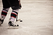 Hockey Player Photos - Handle it by Karol  Livote