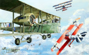 Wwi Drawings - Handley Page 400 by Charles Taylor