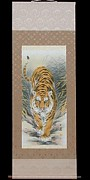 The Tiger Paintings - Handmade Painting On Paper by Chirachoha