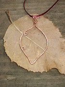 Woman Gift Jewelry - Handmade Solid Copper Leaf Pendant by Naomi Mountainspring