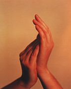 Clapping Metal Prints - Hands Metal Print by Cristina Pedrazzini