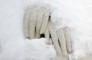 Hands Of A Statue Covered With Snow Print by Matthias Hauser